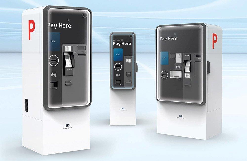 Statie automata pentru plata taxei de parcare - Designa Abacus Connect