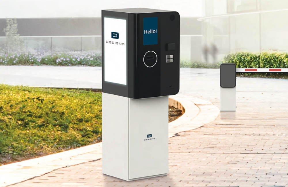 Terminal de intrare iesire sistem automat de parcare cu plata